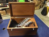 Brown & Sharpe 12 Piece Micrometer Set with Classic Wooden Box